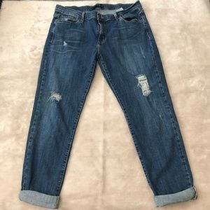 Levis Boyfriend Distressed 513 Denim Jeans Sz 13 M